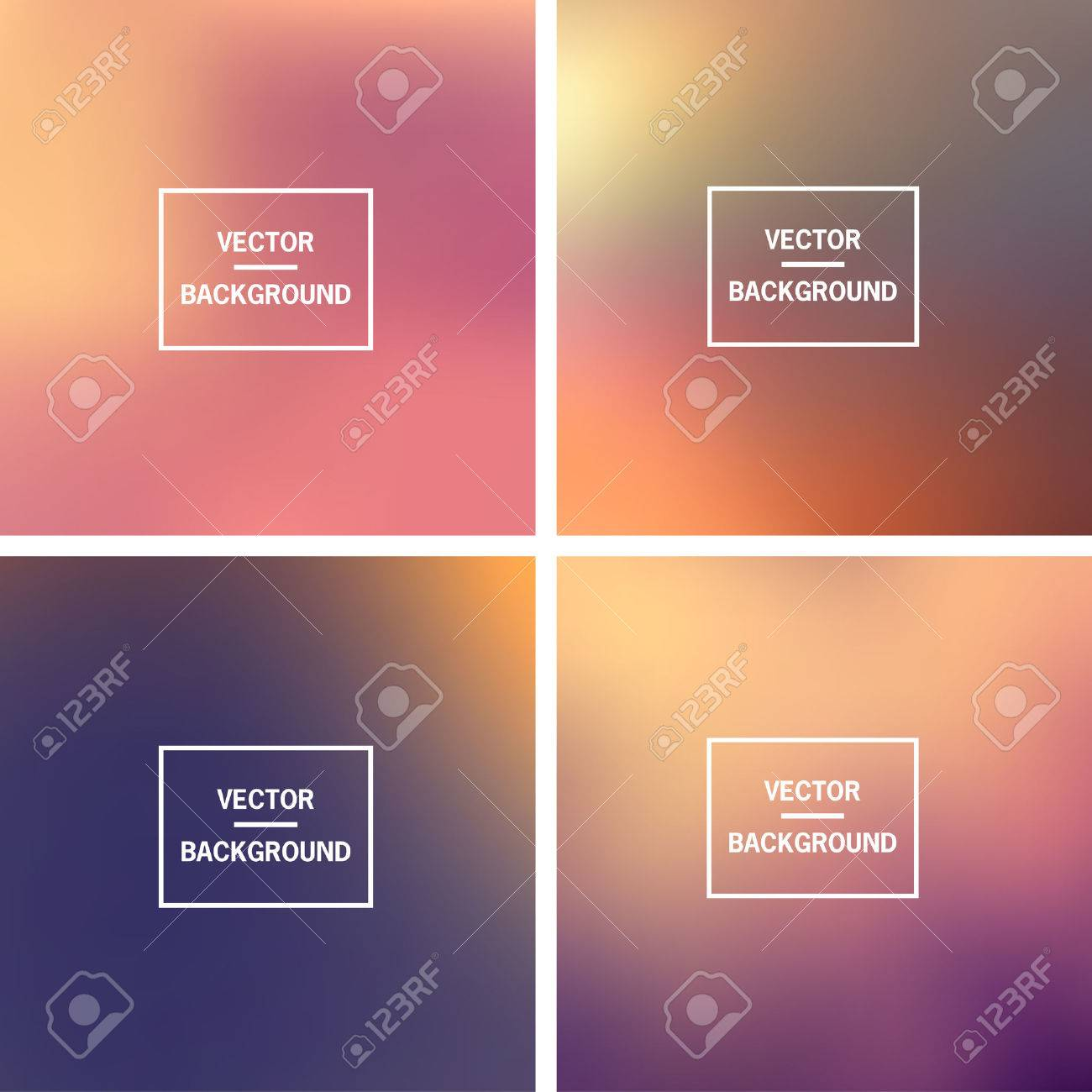 Abstract colorful blurred vector backgrounds. Elements for your website or presentation. - 46960909