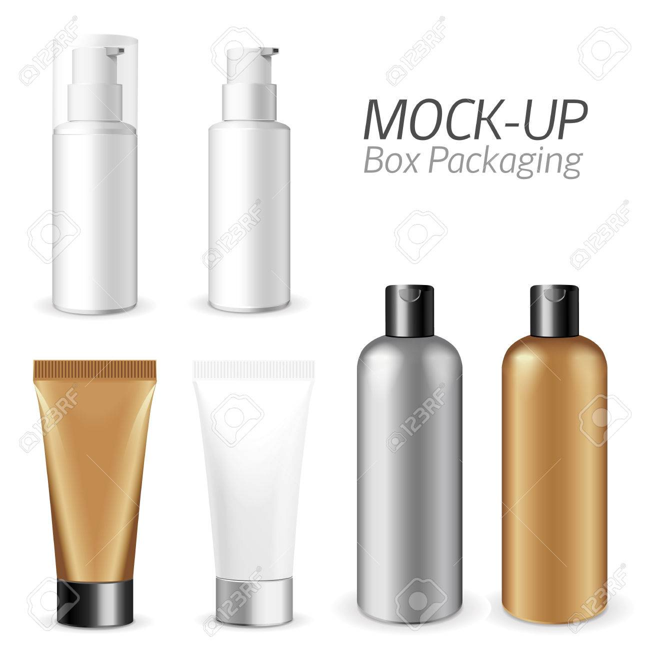Make up. Tube of cream or gel white plastic product. Container, product and packaging. White background. - 47837901