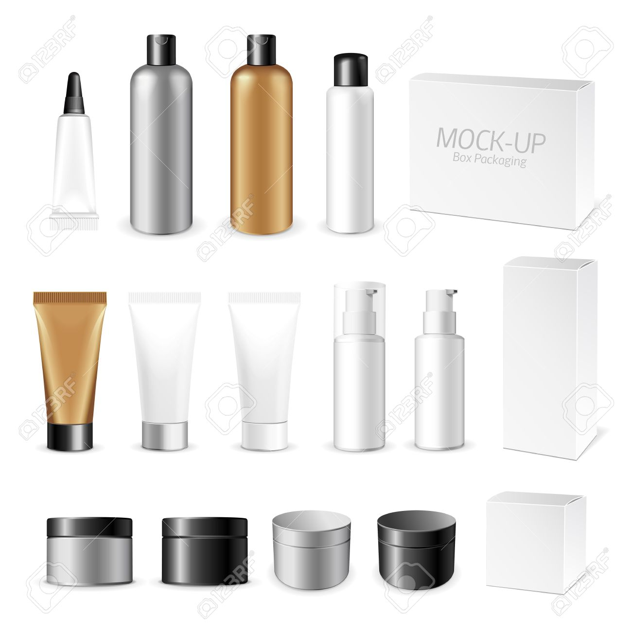 Make up. Tube of cream or gel white plastic product. Container, product and packaging. White background. - 47838329