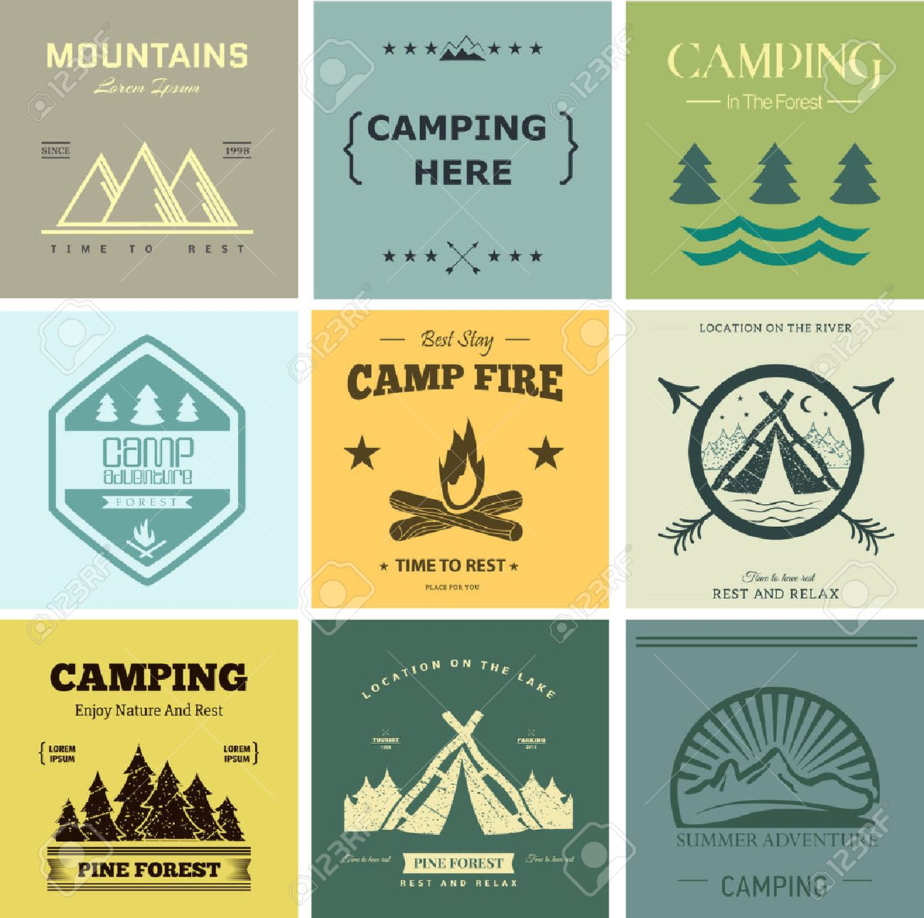 Retro vector vintage camp label and logo graphics. Camping outdoor, adventure and explorer. Simple and nice design. Travel and Exploration the world - 49808108