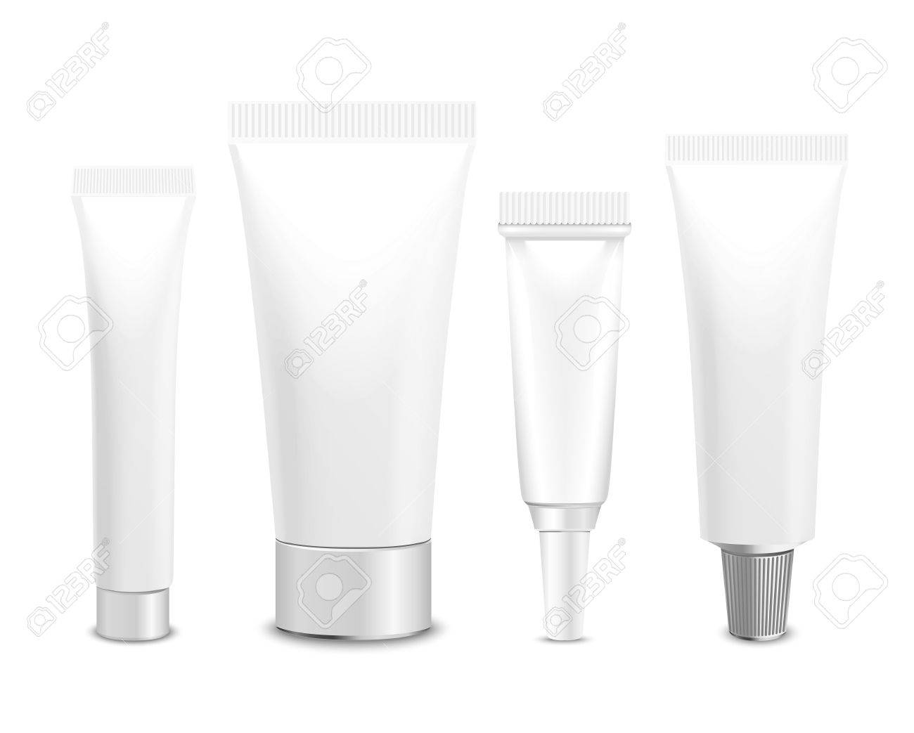Realistic vector template. Tubes, plastic packaging of cream or medical product on white background. You can use it for you design of your products - 51994248