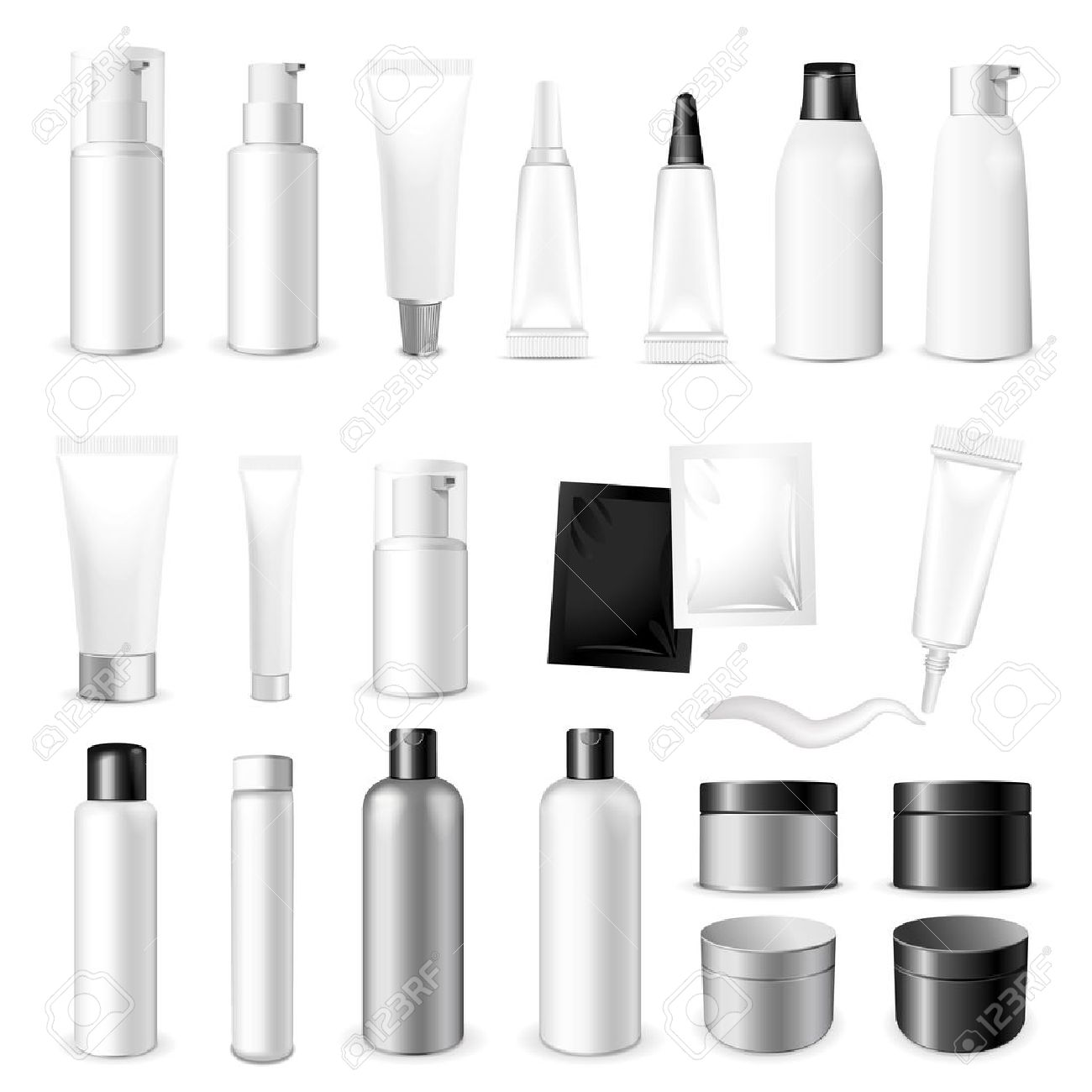 Make up. Tube of cream or gel white plastic product. Container, product and packaging. White background. - 51994301