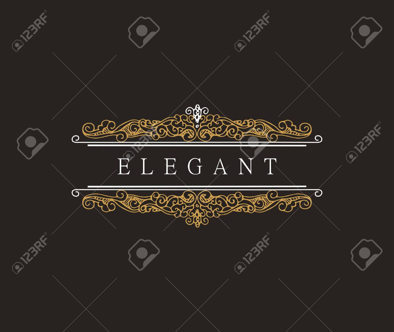 Monogram Classic Template With Elegant Ornament Elements. Luxury ...
