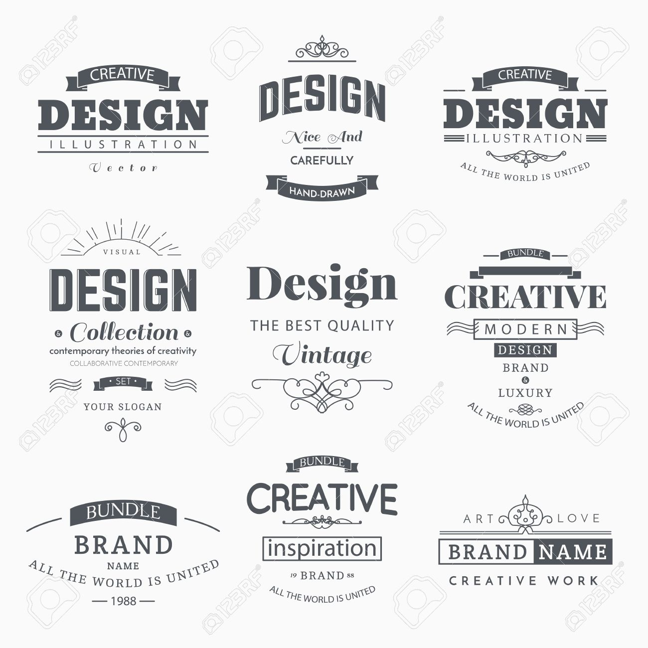 Retro creative vintage labels template and logo set vector design retro creative vintage labels template and logo set vector design elements business signs branding accmission