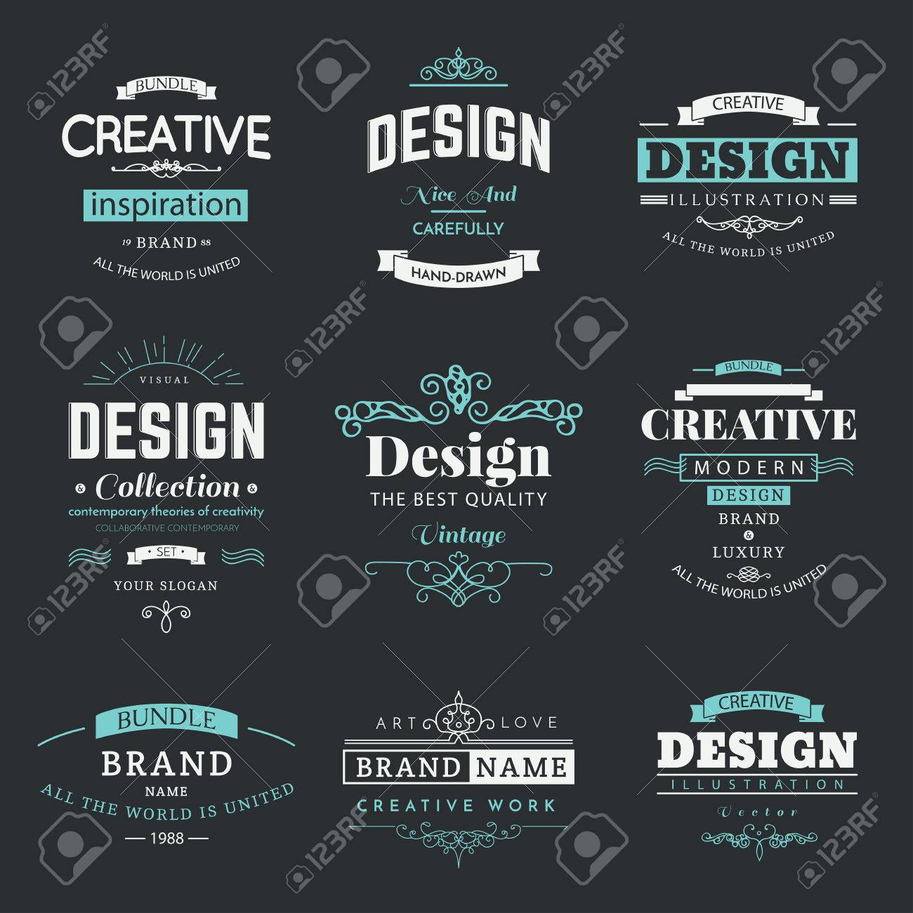 Retro creative vintage labels template and logo set vector design retro creative vintage labels template and logo set vector design elements business signs branding cheaphphosting Choice Image