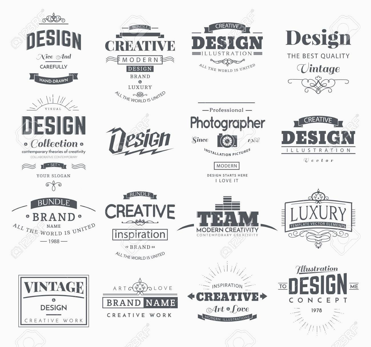 Retro creative vintage labels template and logo set vector design retro creative vintage labels template and logo set vector design elements business signs branding wajeb Images