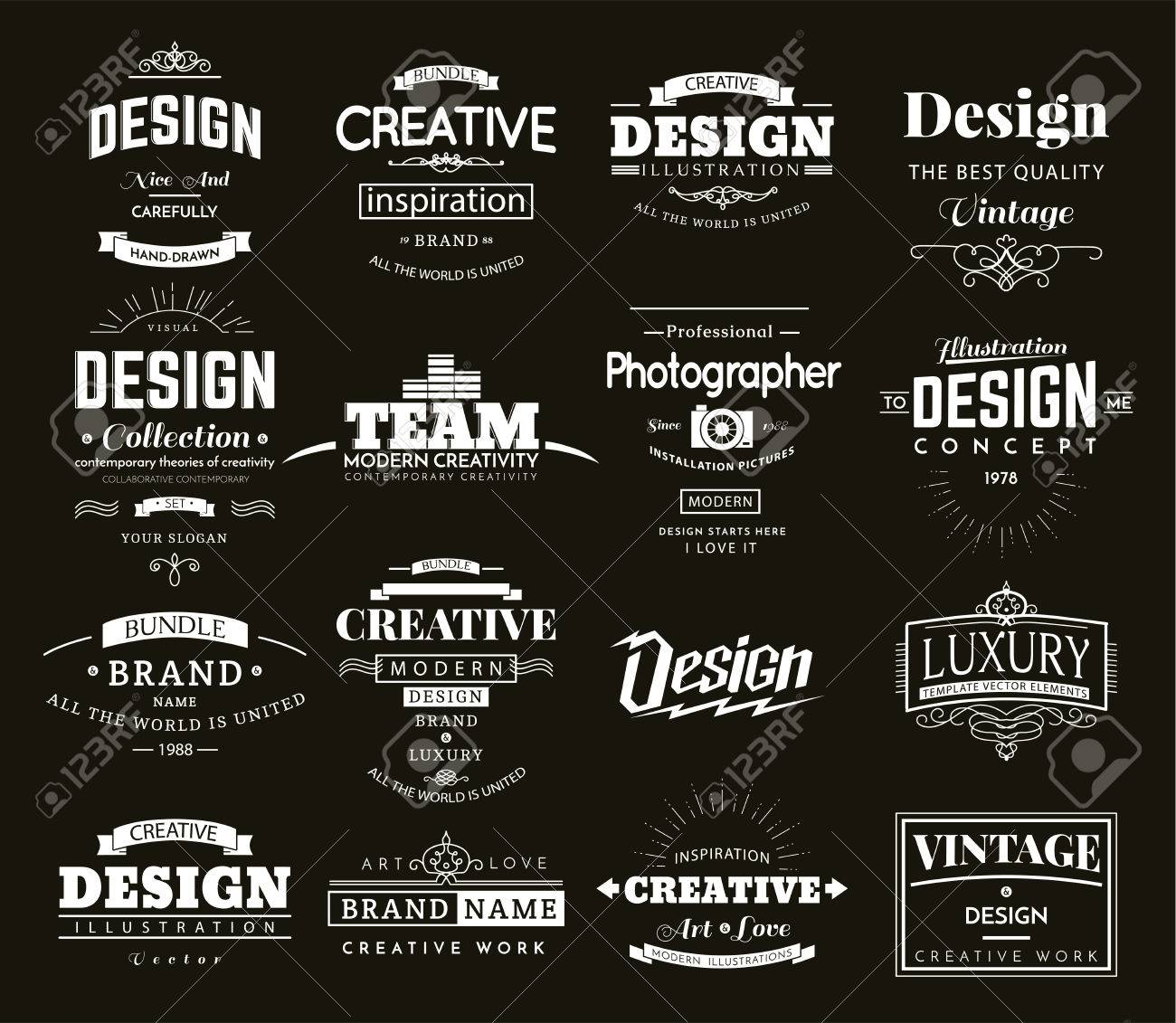 Retro creative vintage labels template and logo set vector design retro creative vintage labels template and logo set vector design elements business signs branding accmission Gallery