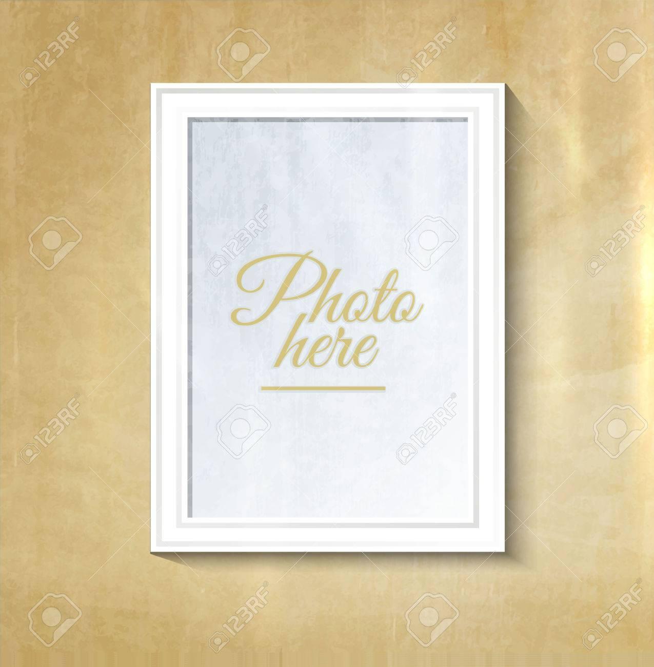 Decorative Collage Photo Frame. Vintage Photo Frame Template ...