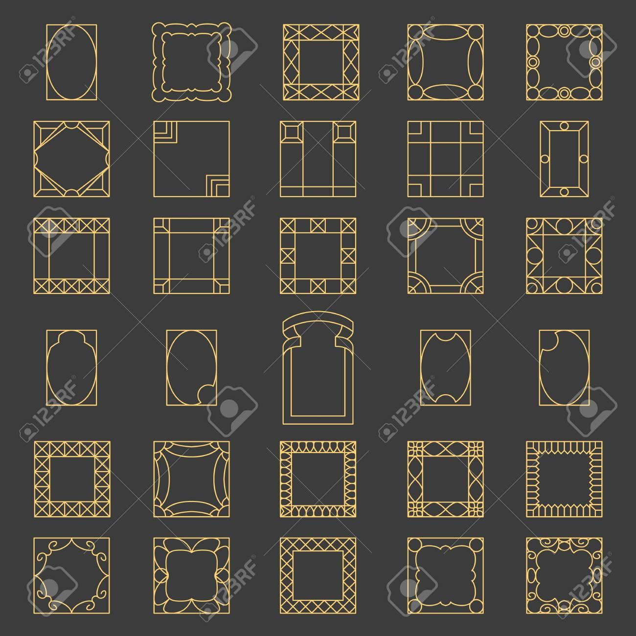 Marcos modernos cuadrados imagen vectorial R t