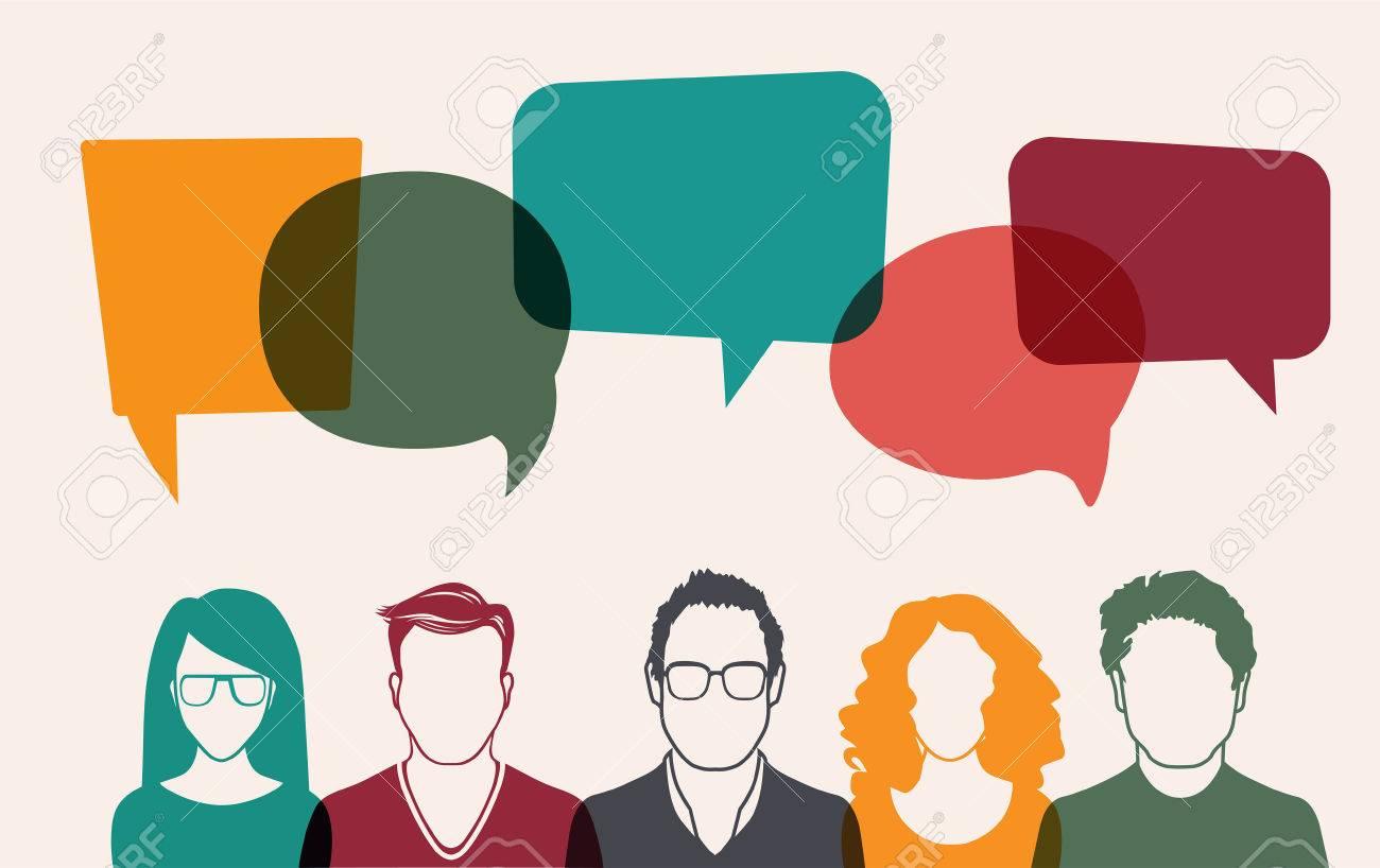 Five people. Men and women avatar profile picture set. Businessman, coworkers, team, think, Question. Idea, Brainstorm. Business concept vector illustration. - 59611620