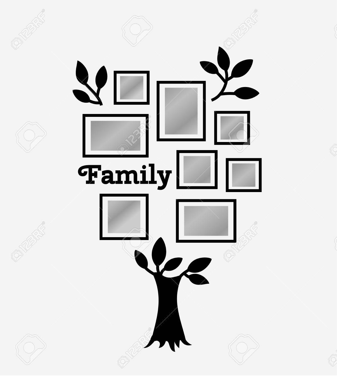 Memories tree with picture frames  Insert your photo into template