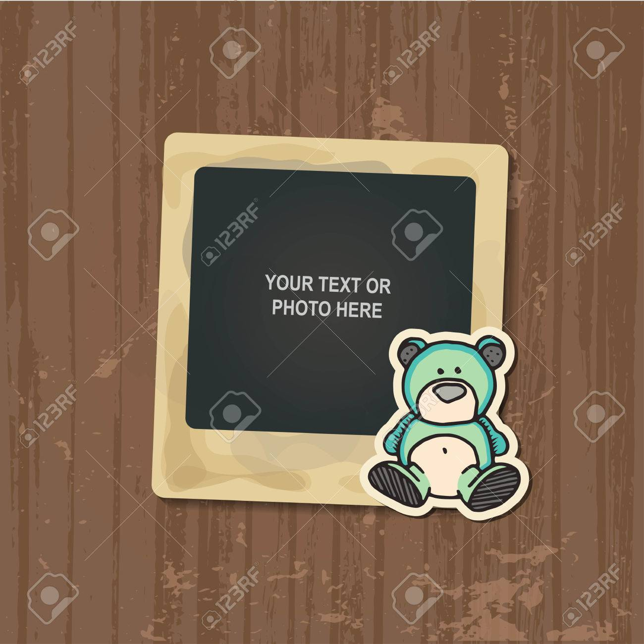 Photo Frame Album Template For Kid Baby Family Or Memories
