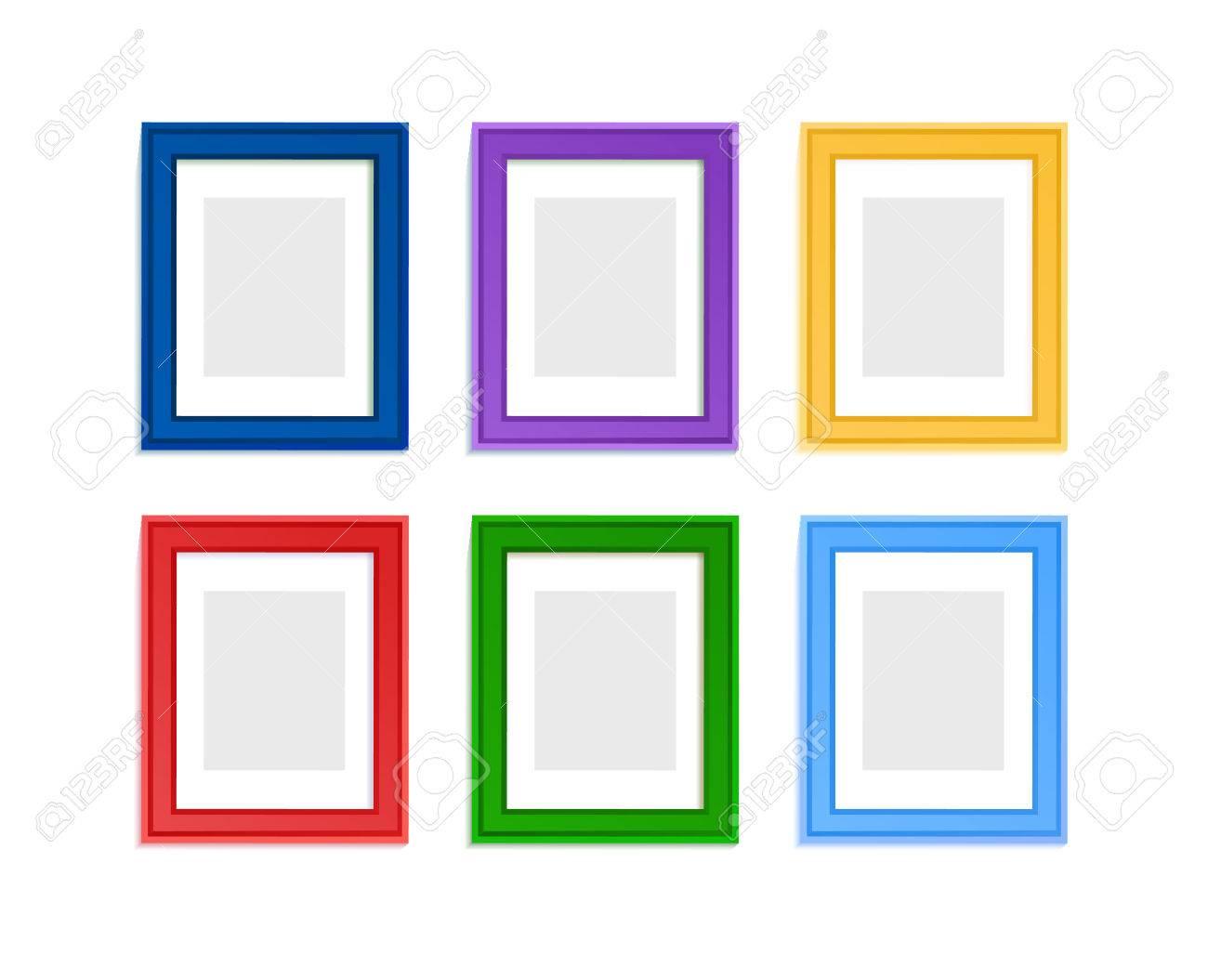 Multi Farbige Bilderrahmen Für Kinder Bild In Der Zusammensetzung ...