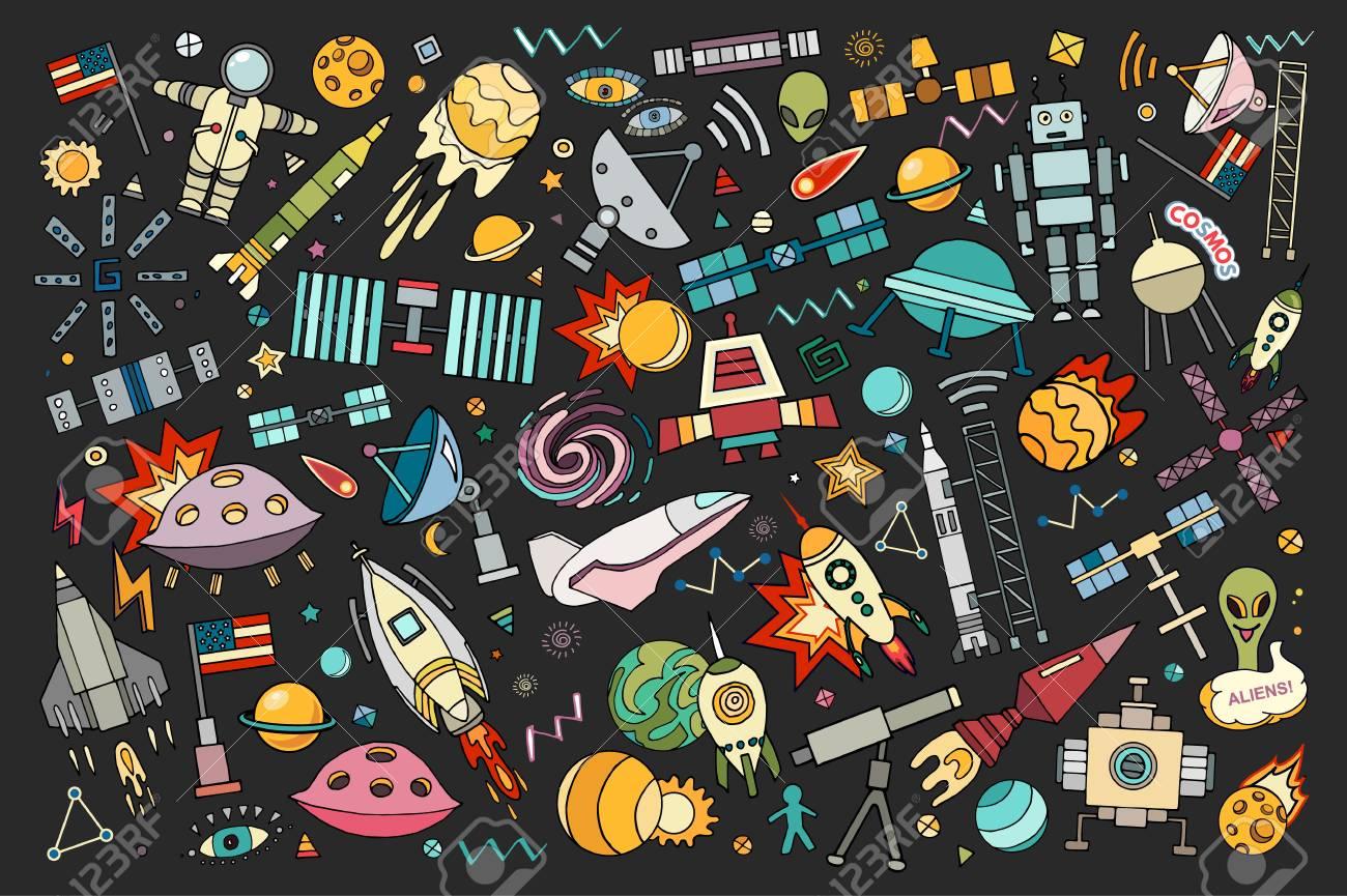Illustration De Vecteur De Dessin Anime De L Espace Moon Planete