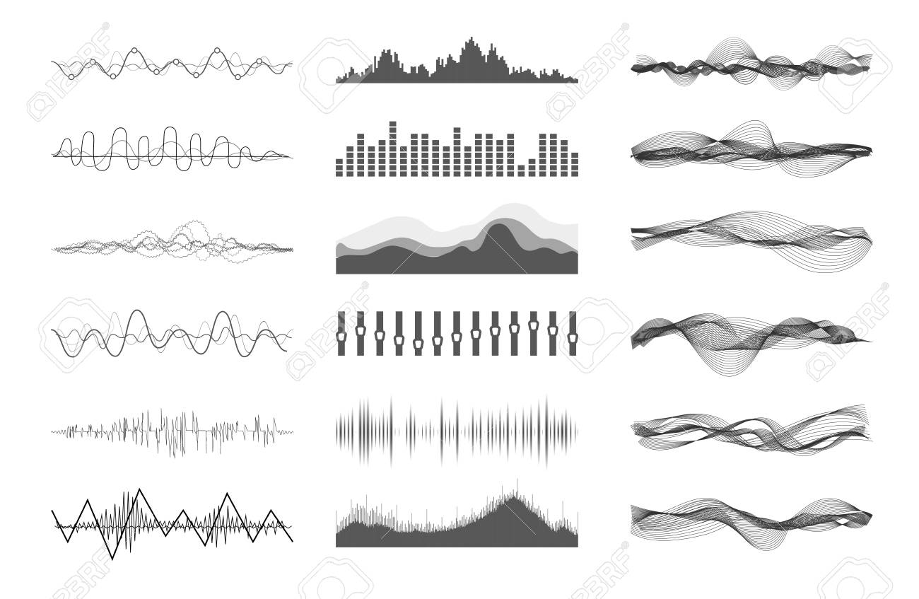 Vector music sound waves - 82980418