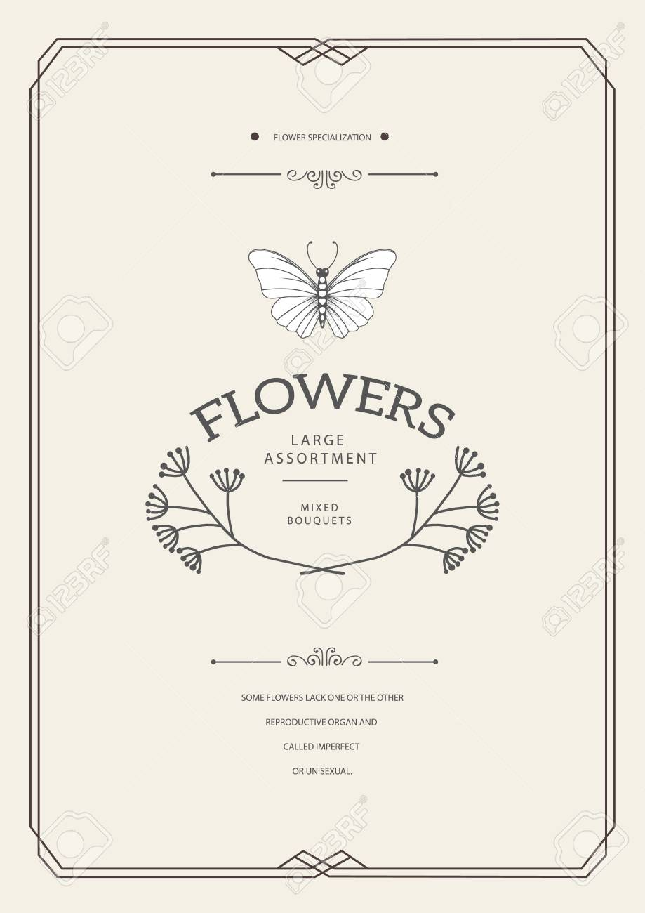 Vintage Creative Card Template With Beautiful Flourishes Ornament Elements Elegant Design For Corporate Identity Logo Invitation Book Covers