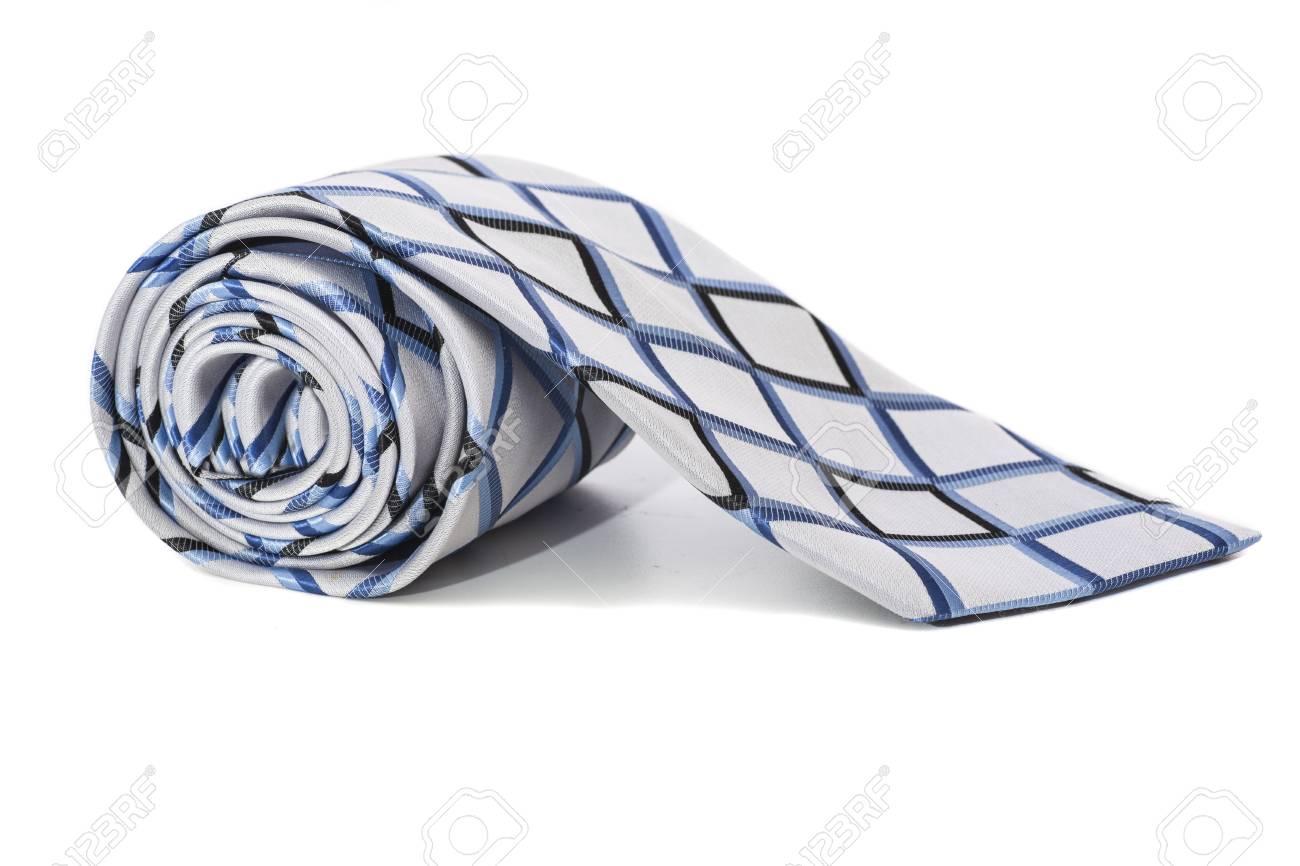 checkered necktie on a white background - 29766896