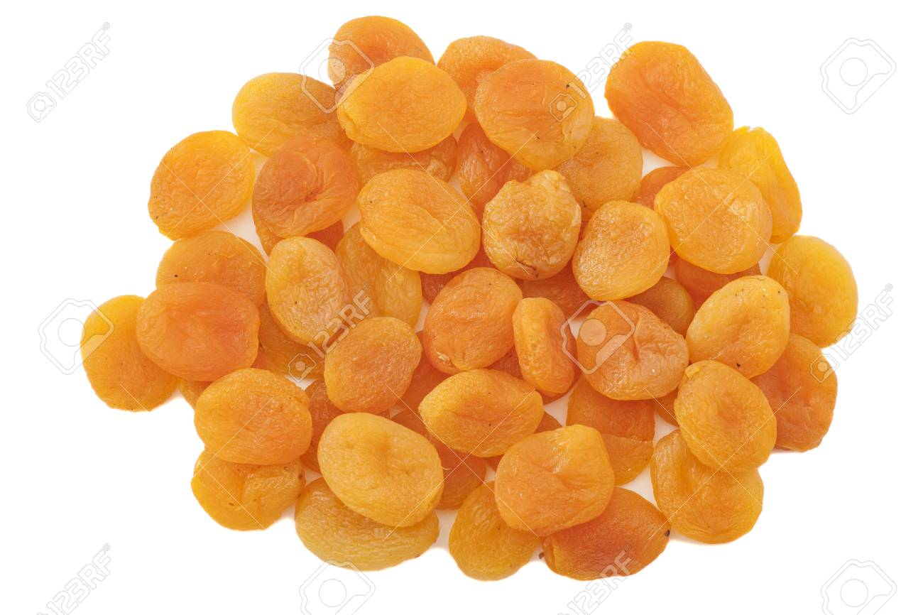 Dried apricots in white background - 30182314
