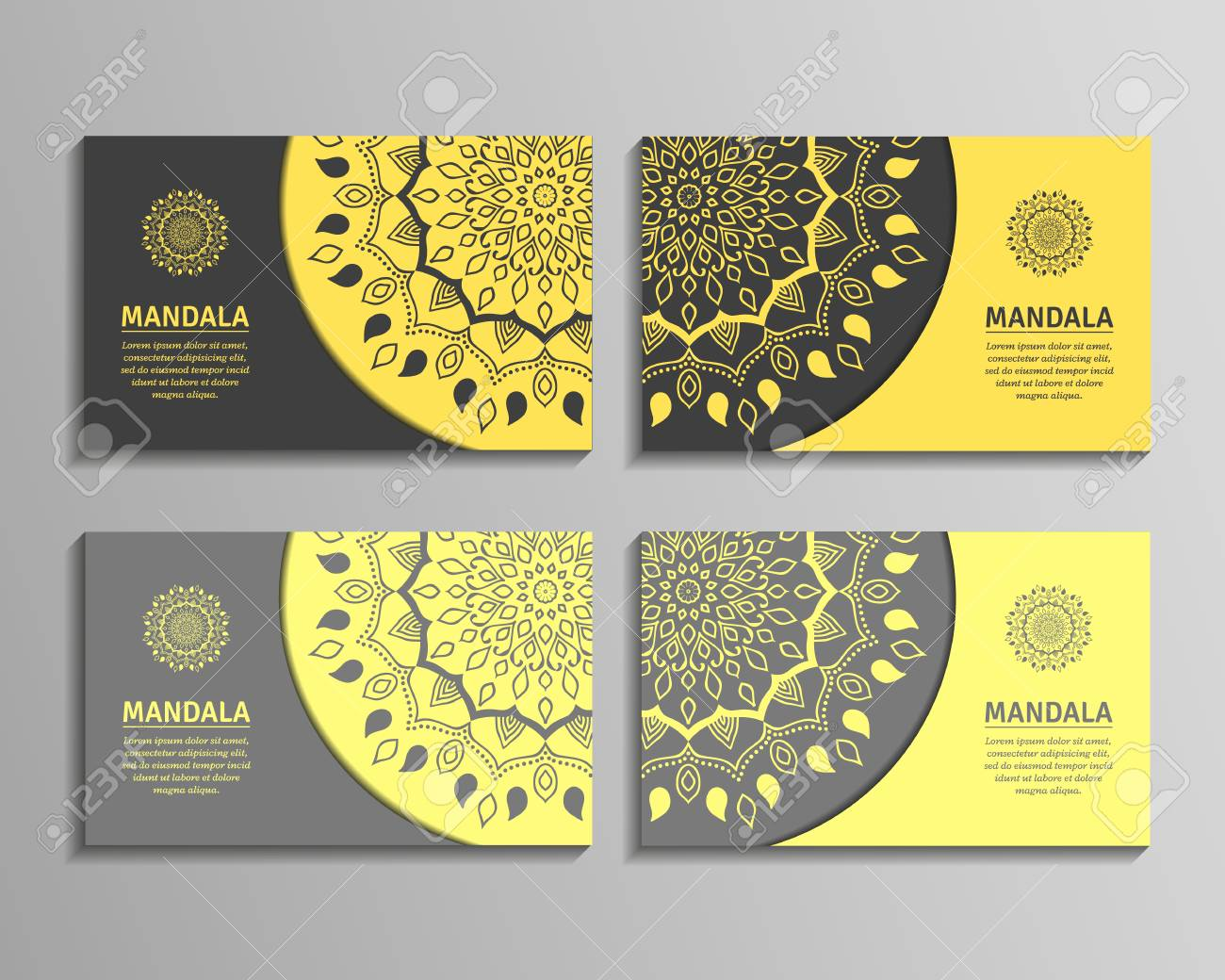 Ornamental template for business card flyer or banner with round ornamental template for business card flyer or banner with round mandala vector ornamental mandala colourmoves