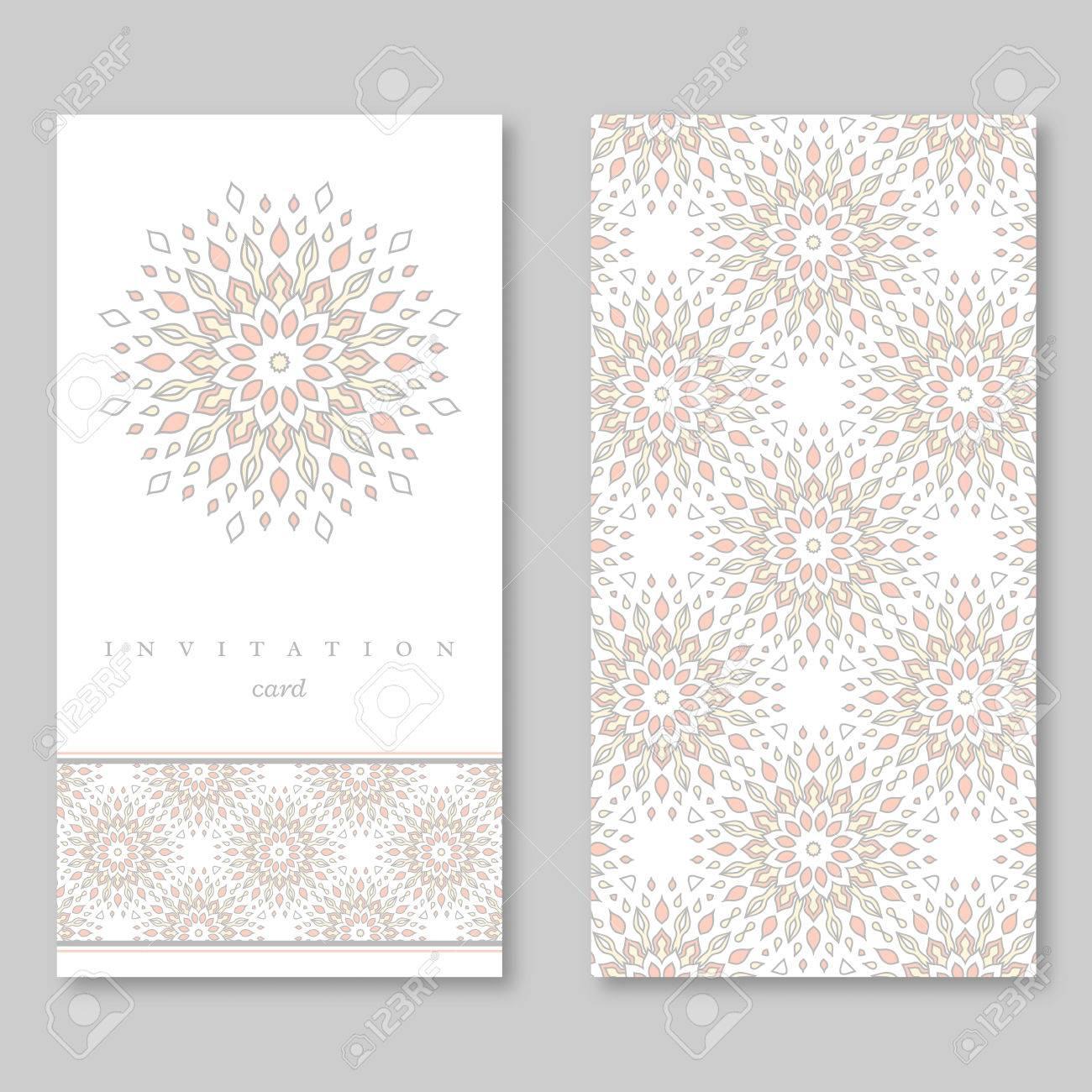 Set Bestehend Aus Zwei Karten Vorlage Fur Gruss Einladung