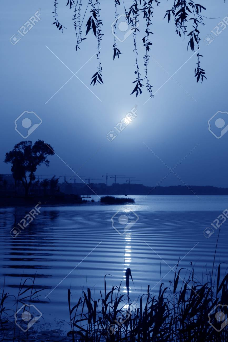 river landscape in the evening in north china Stock Photo - 18999055