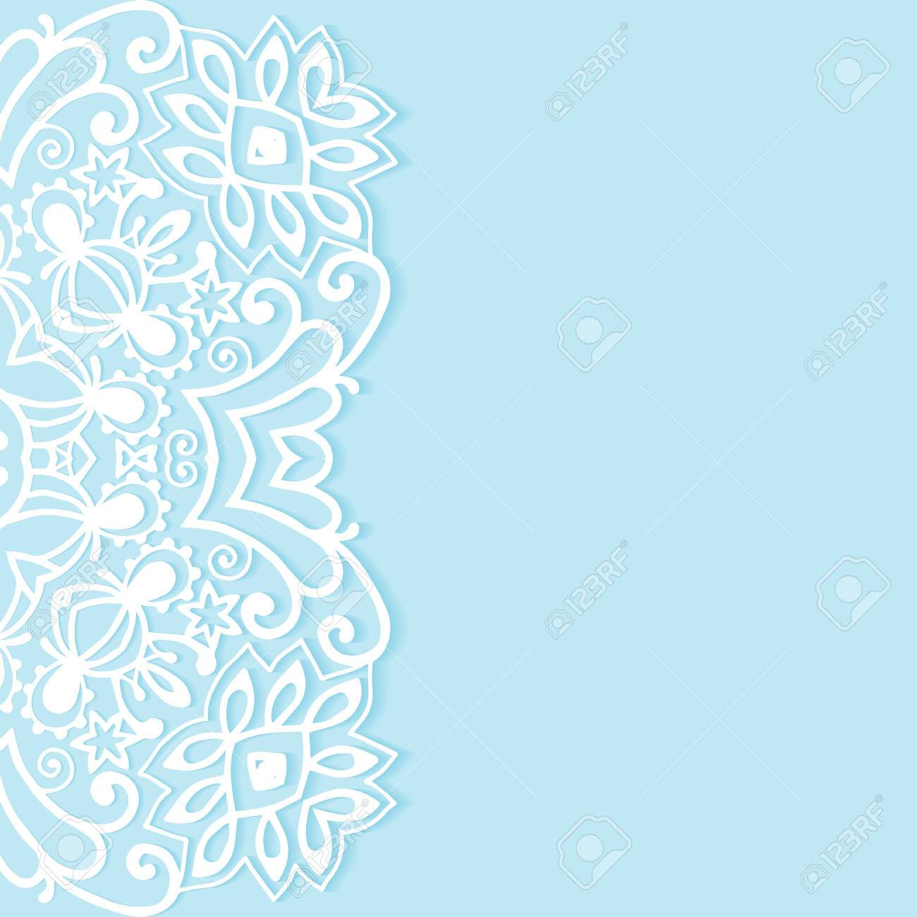 Decorative Abstract Background Wedding Invitation Or Greeting