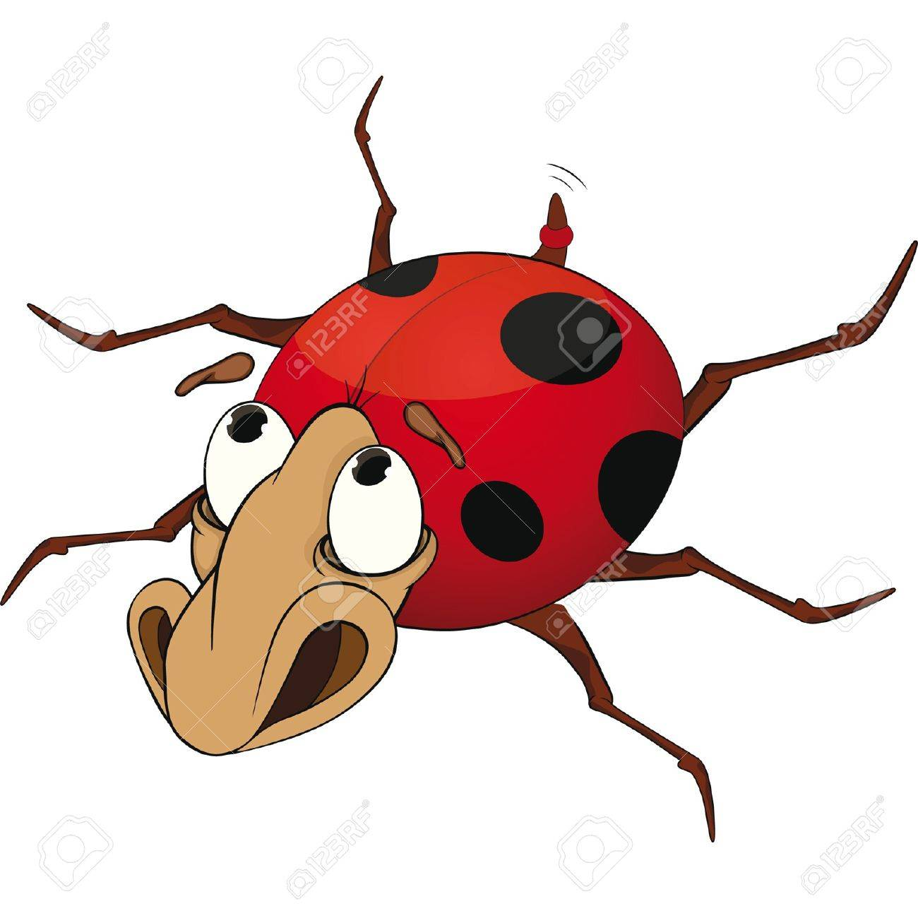 Sad ladybird from a fairy tale. Cartoon Stock Vector - 11661001