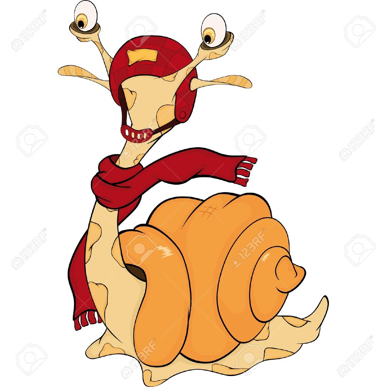 Snail. The monster. Cartoon Stock Vector - 11984932