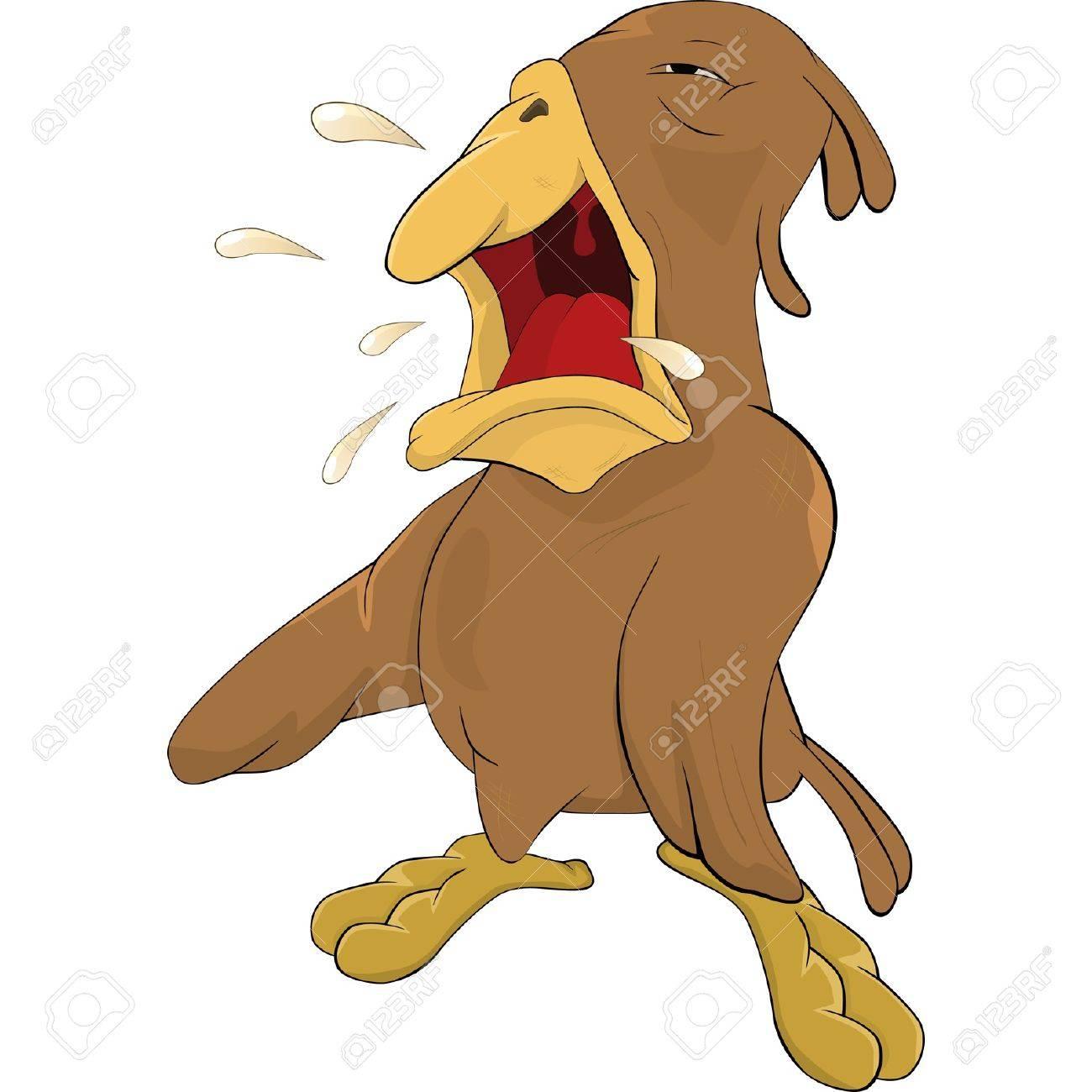 The sparrow cries Stock Vector - 12483923