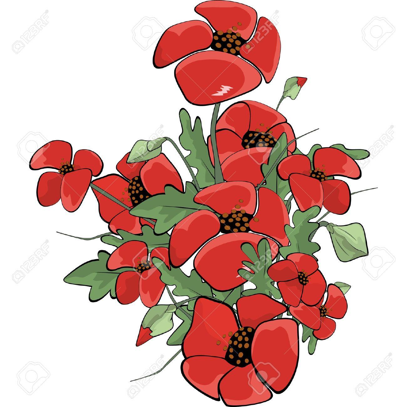 Poppies Cartoon Royalty Free Cliparts Vectors And Stock