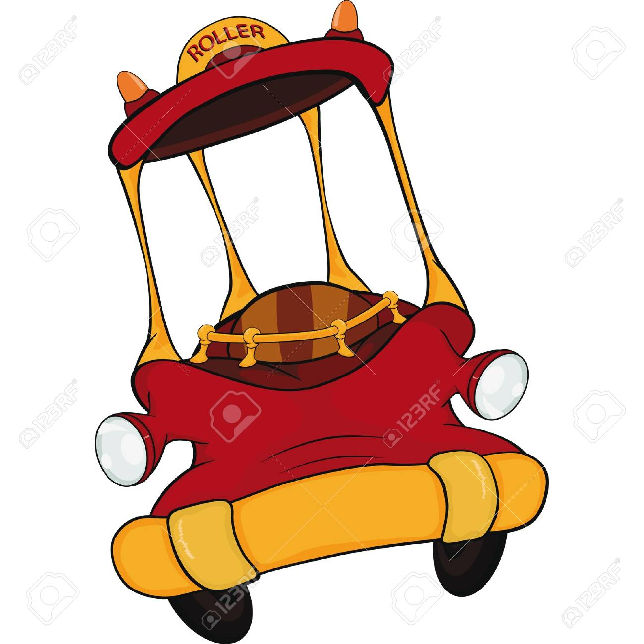 The toy red car Stock Vector - 12486636
