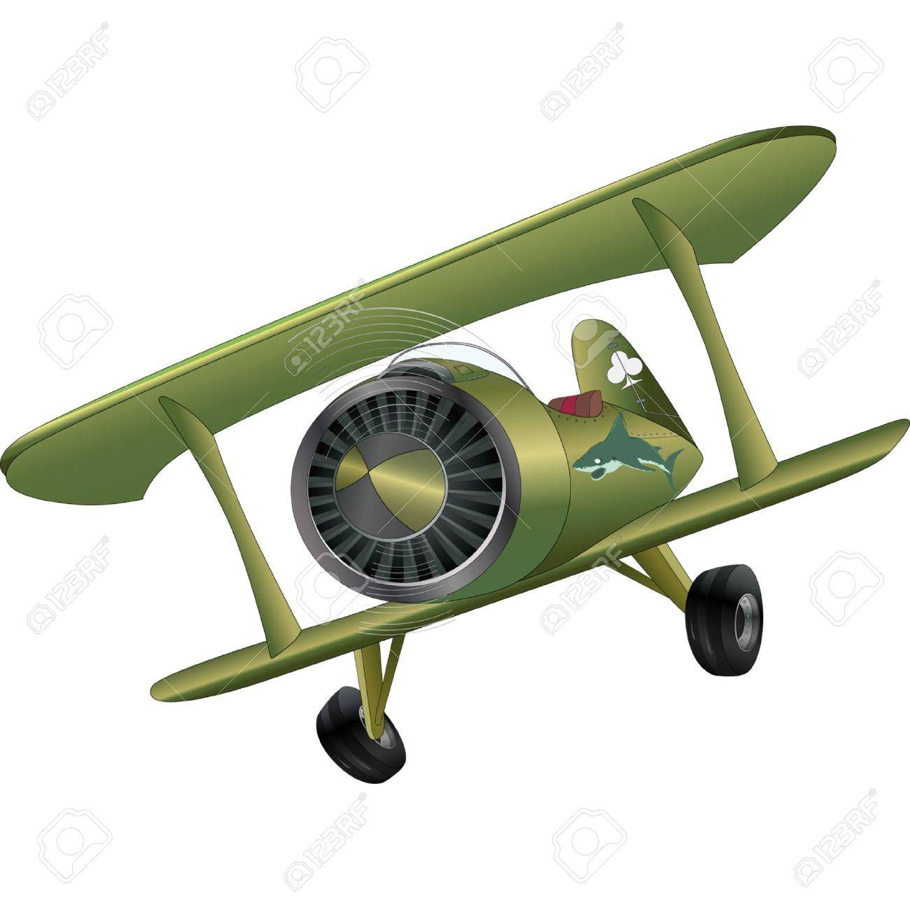 The old plane biplane Stock Vector - 12487034