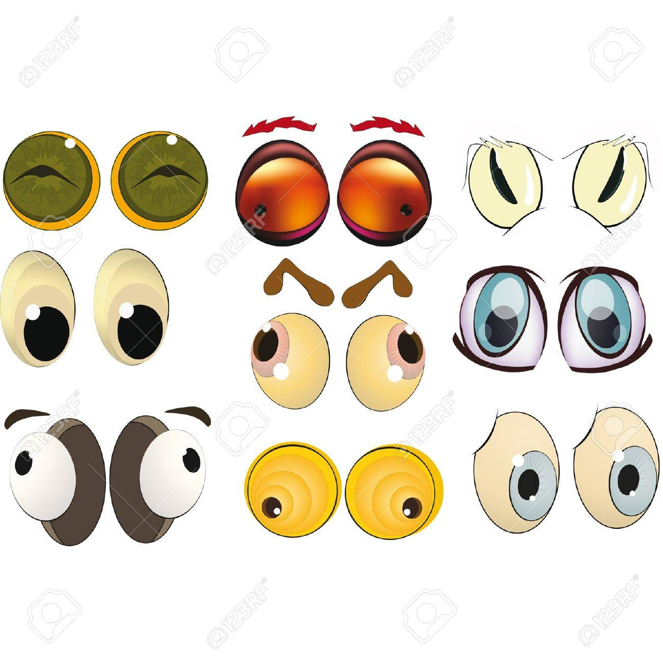 The complete set of the drawn eyes Stock Vector - 12801764
