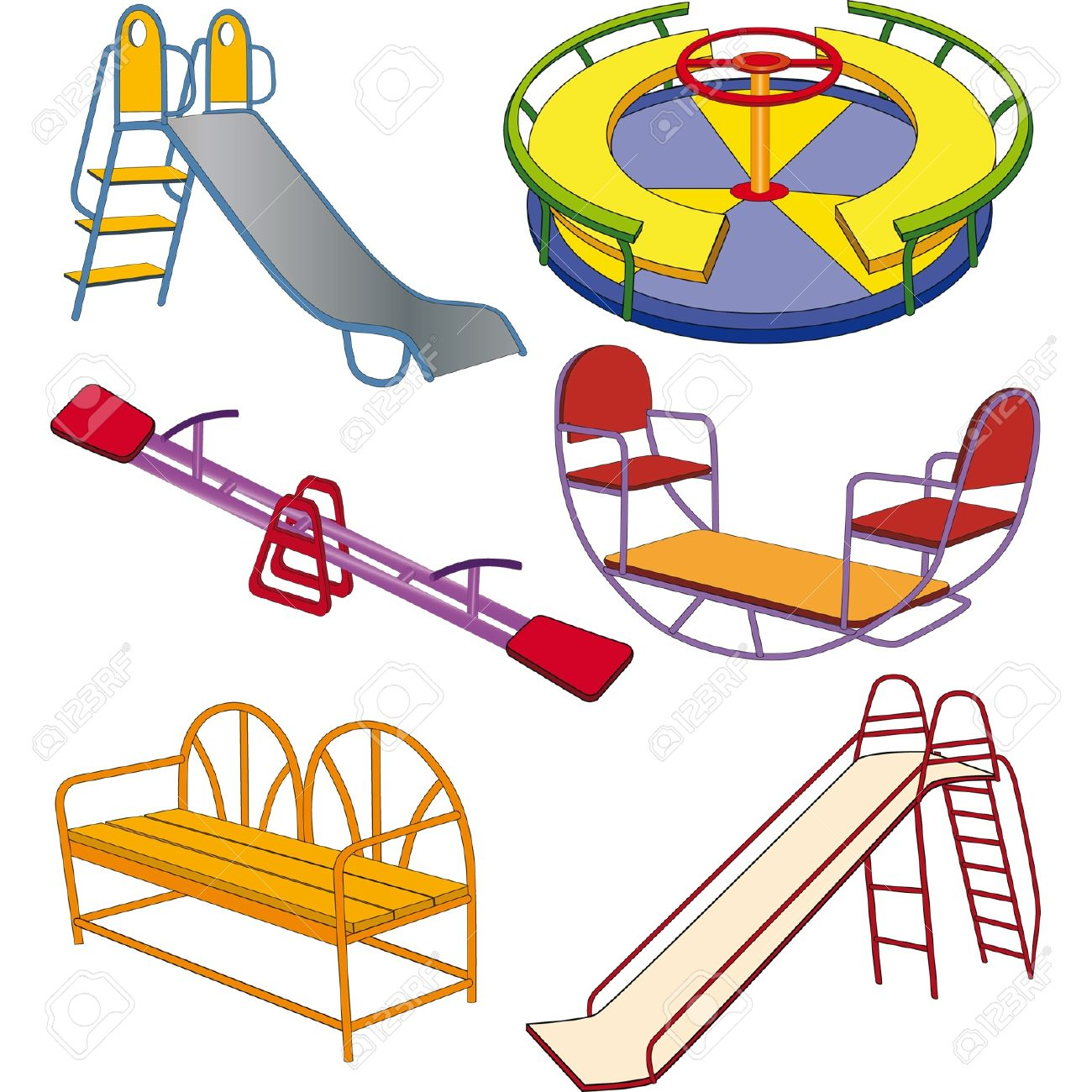 The complete set a children s swing Stock Vector - 12942435