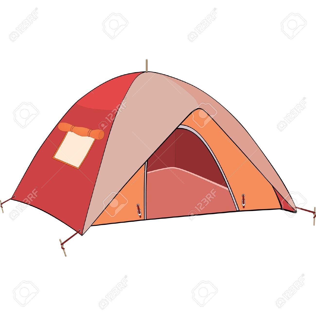 Red tent. Cartoon Stock Vector - 13320336  sc 1 st  123RF.com & Red Tent. Cartoon Royalty Free Cliparts Vectors And Stock ...