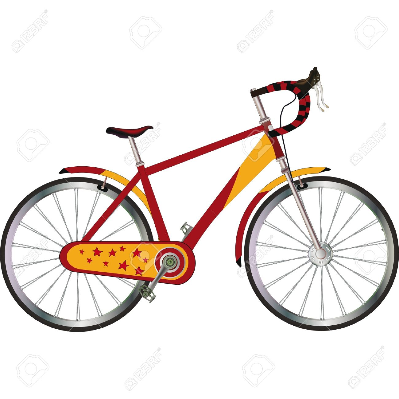 Tourist bicycle Stock Vector - 13369903