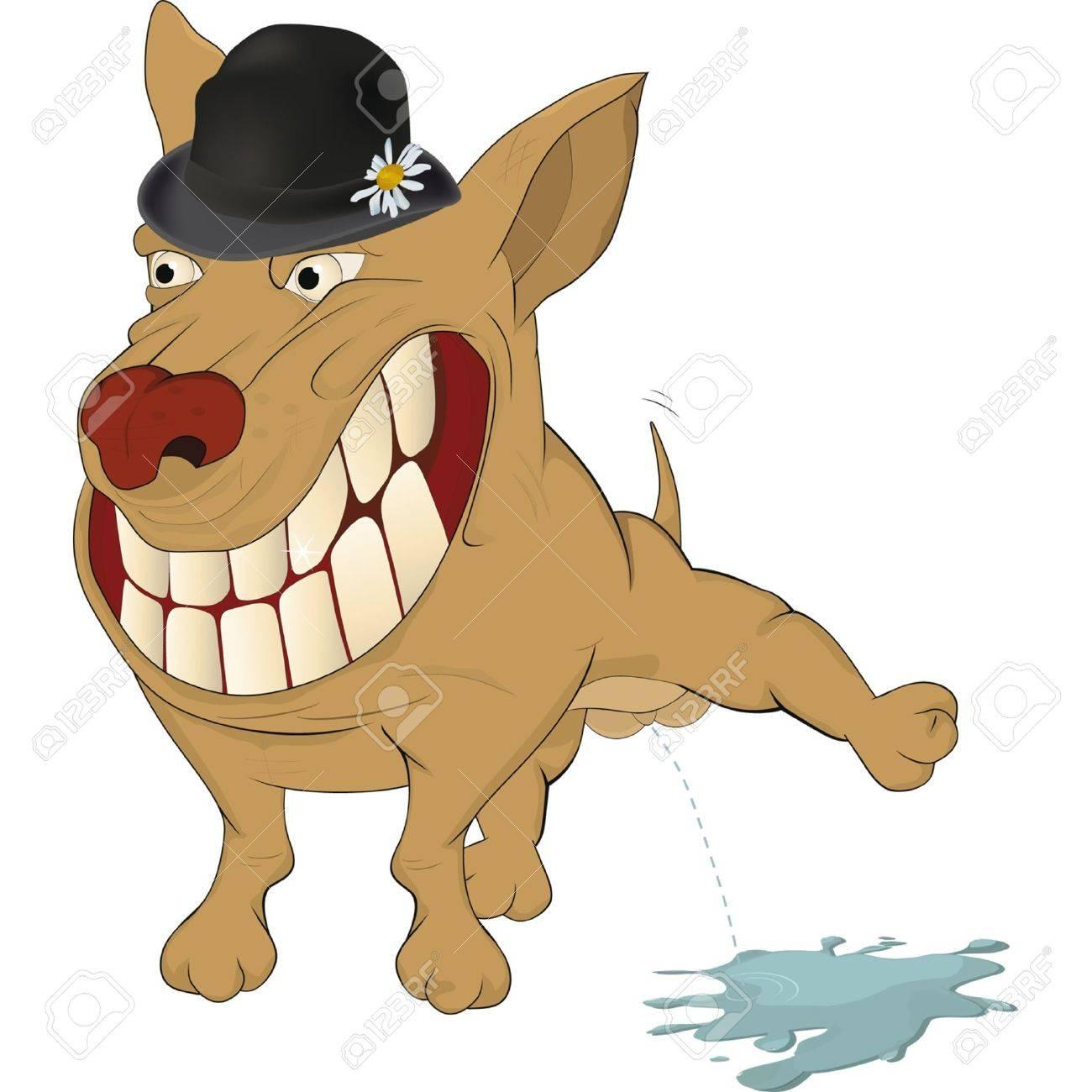 Very cheerful dog. Cartoon Stock Vector - 13679925