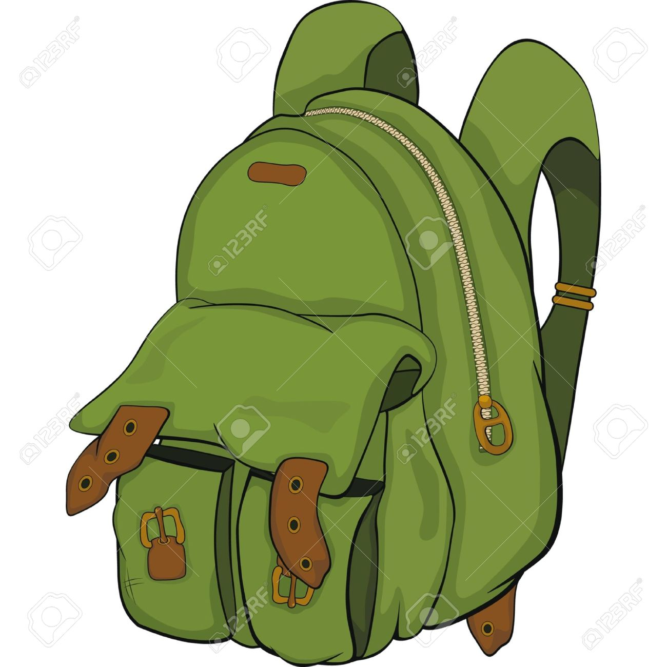 33f54f4364a School Backpack. Cartoon Royalty Free Cliparts, Vectors, And Stock ...