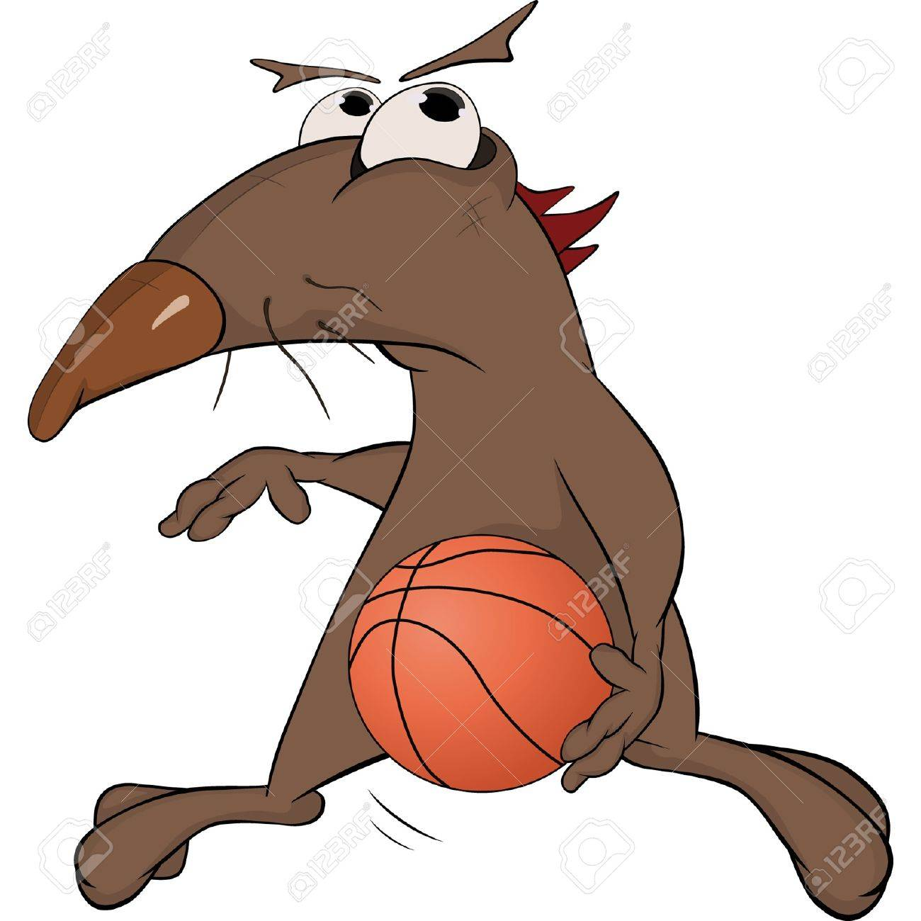 Dog the basketball player. Cartoon Stock Vector - 13789065