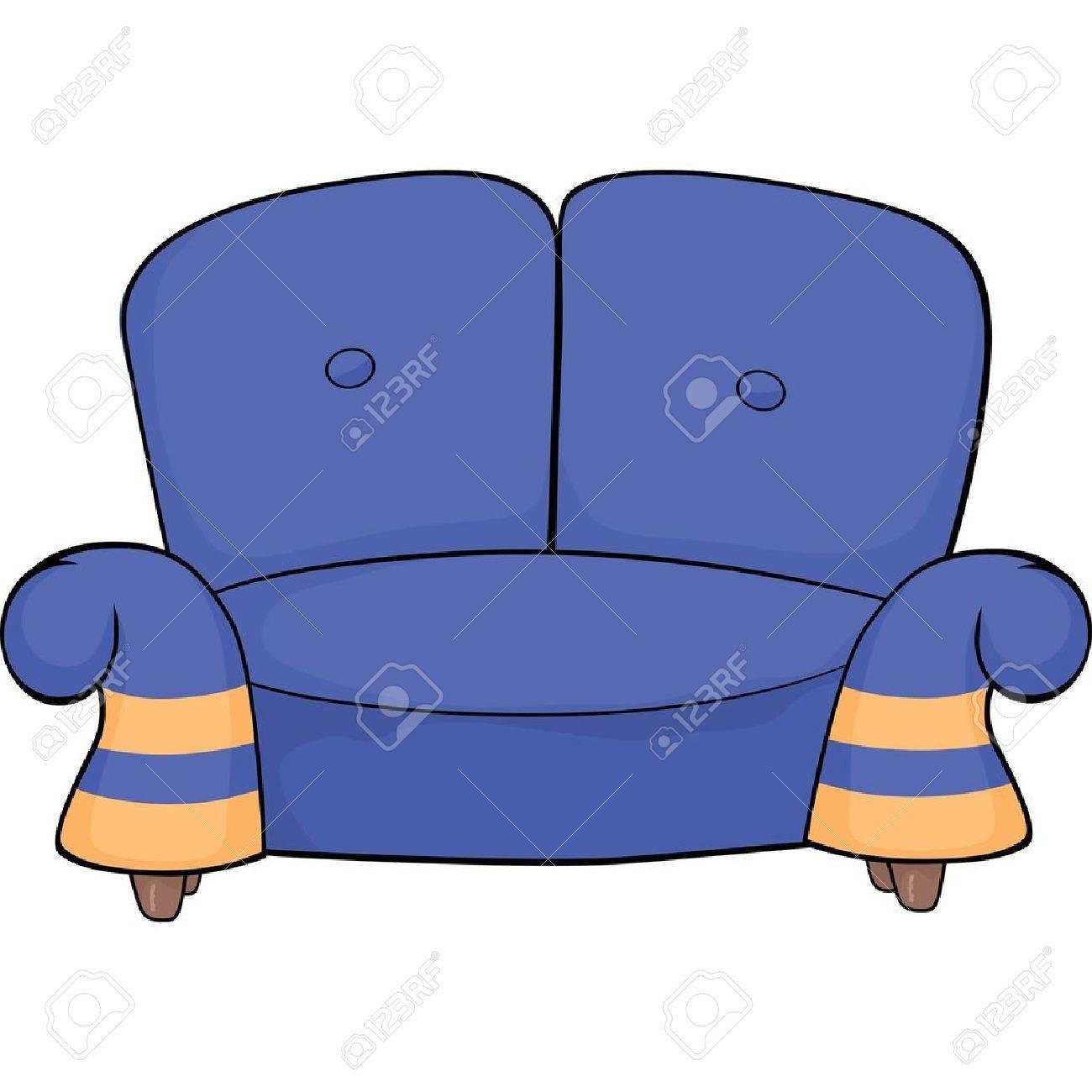 Blue sofa. Stock Vector - 15226987
