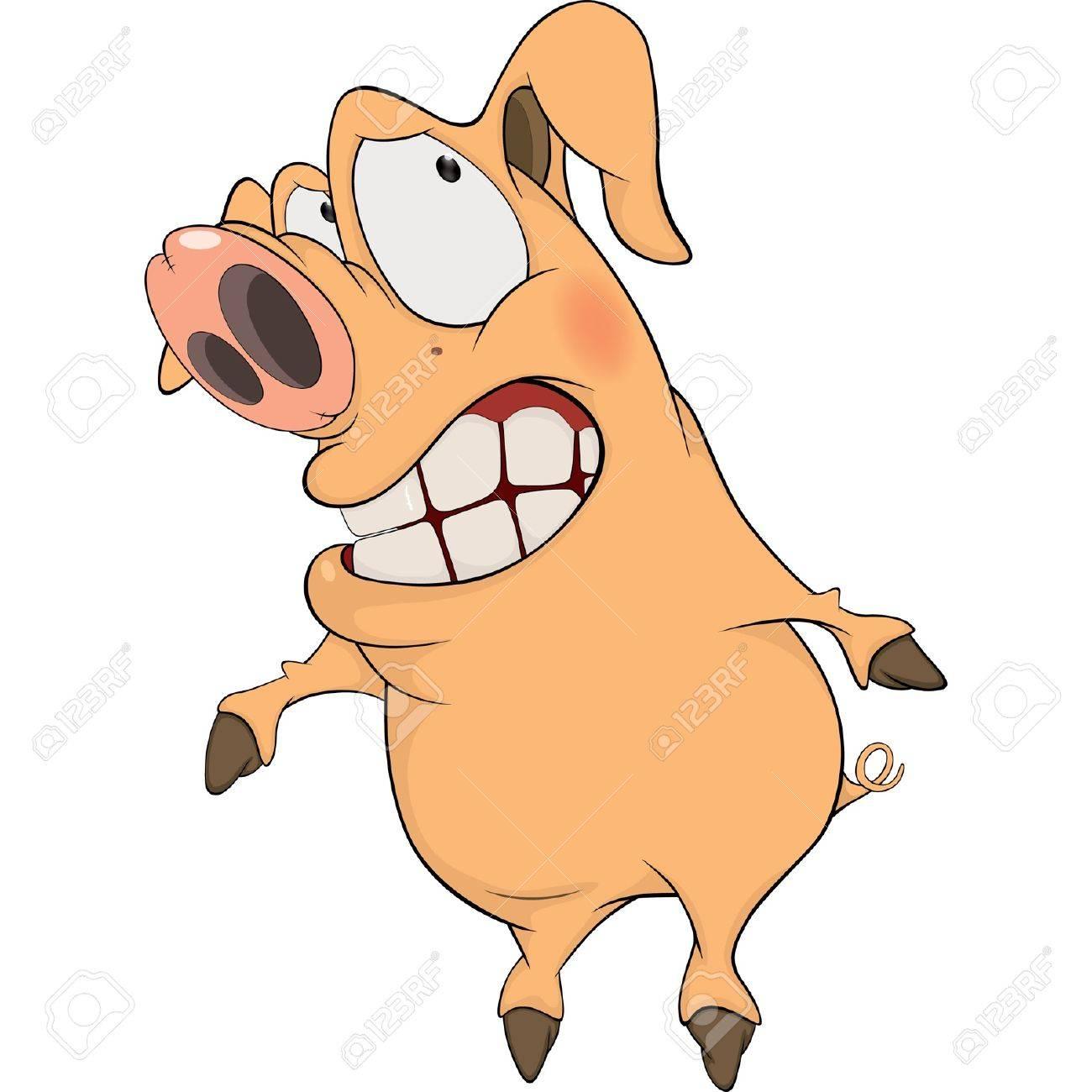 Pig. Cartoon Stock Vector - 17030937