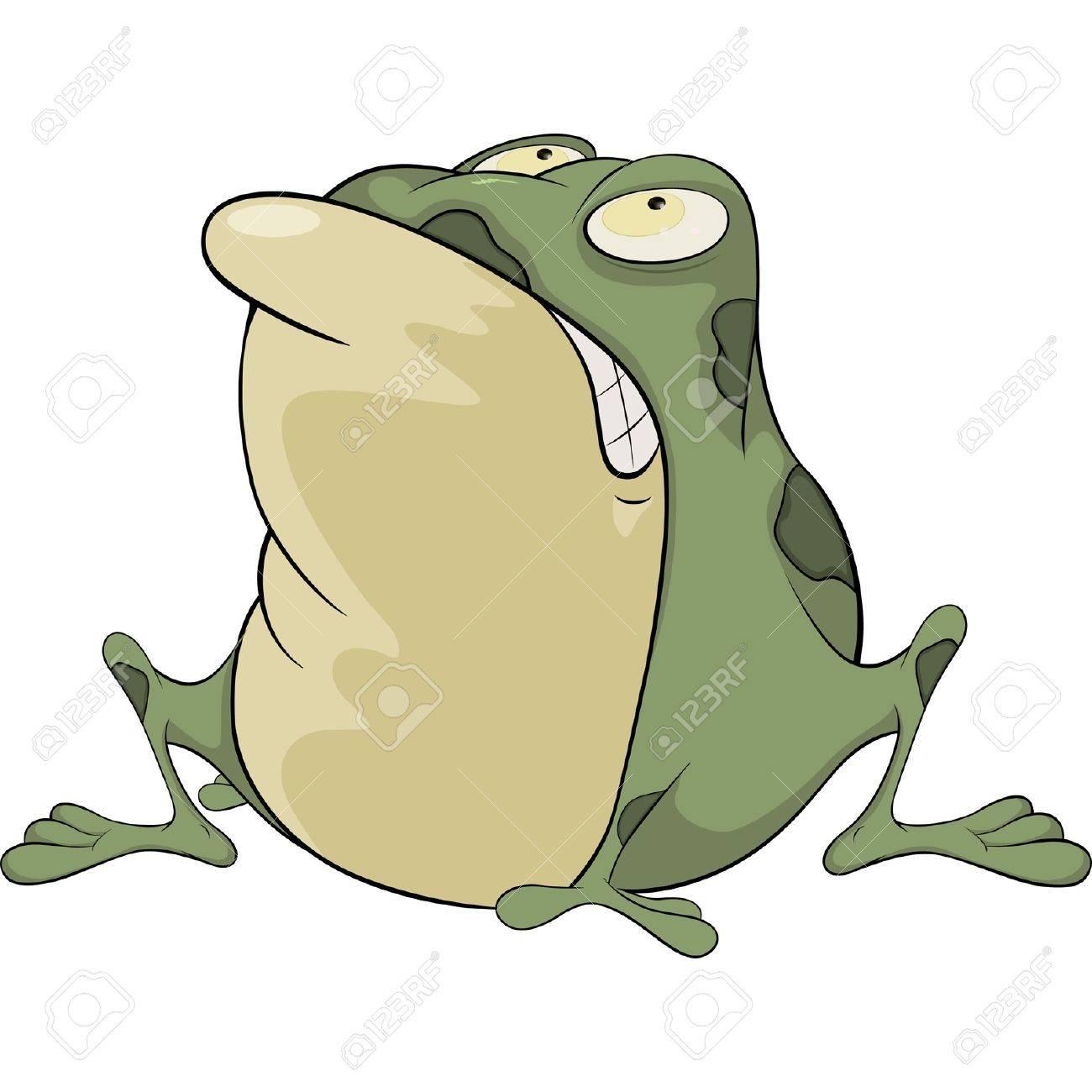 Crapaud Dessin le crapaud vert. dessin animé clip art libres de droits , vecteurs
