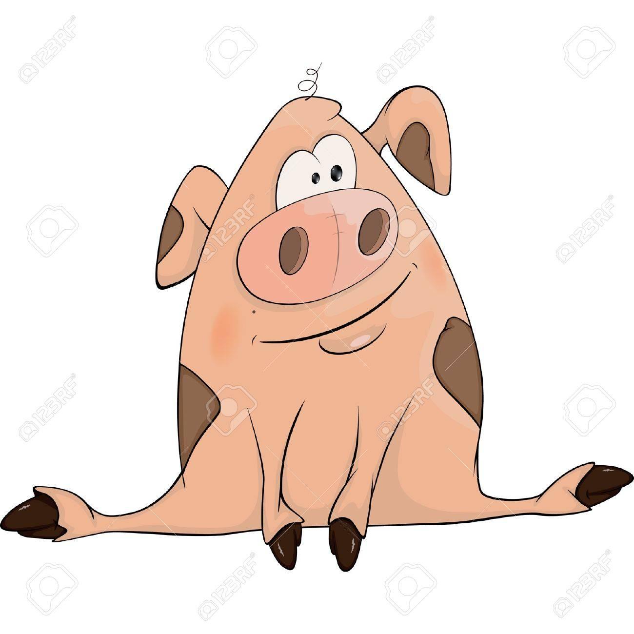 Pig. Cartoon Stock Vector - 17272899