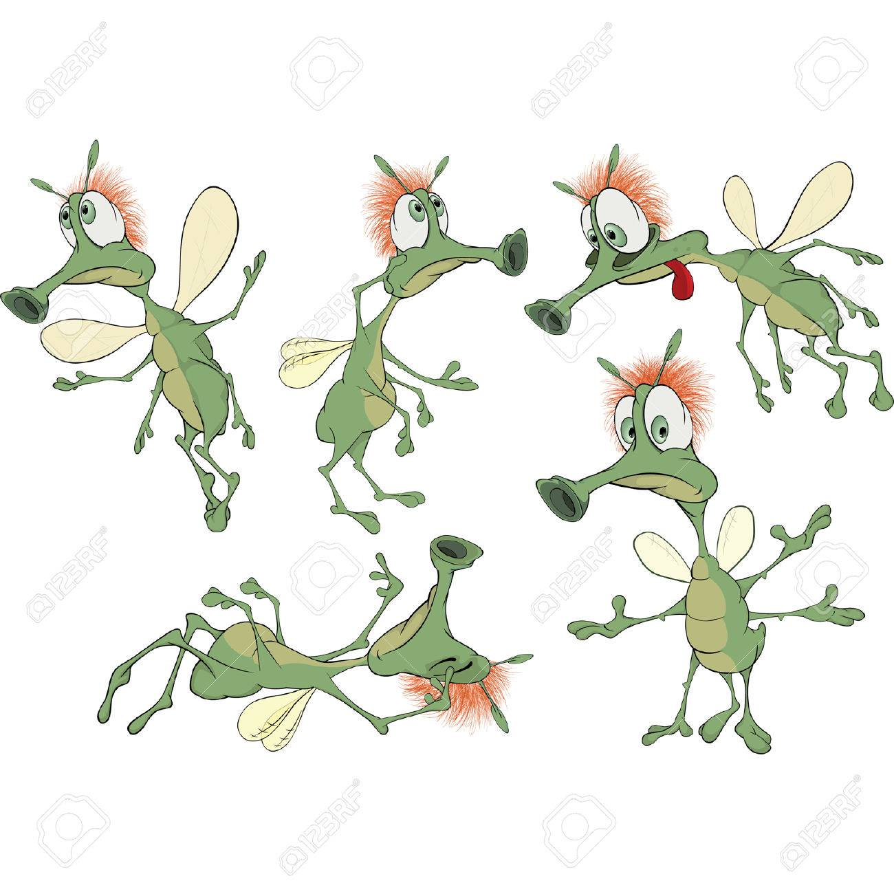 Set of green Insects cartoons Stock Vector - 27712110