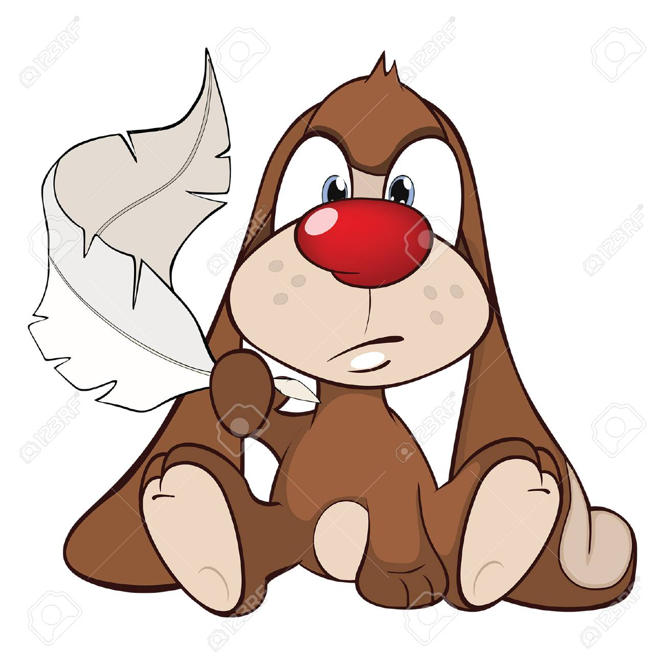 Illustration D Un Lapin Mignon Personnage De Dessin Animé
