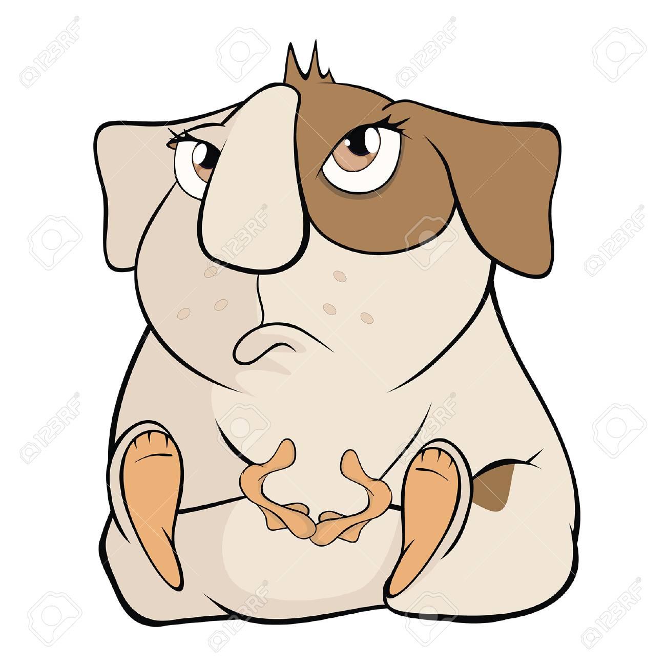 Illustration D Un Cochon D Inde Brun Drole Personnage De Dessin Anime Clip Art Libres De Droits Vecteurs Et Illustration Image 81316905