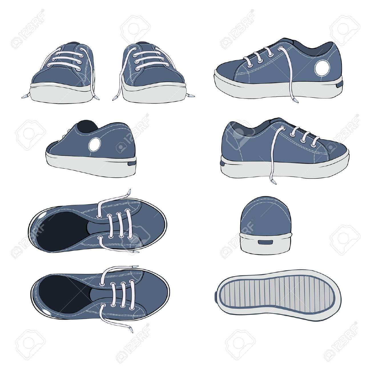 Completo Un Conjunto De Zapatillas Ilustración Deporte Deportivo Calzado b6f7gvYy