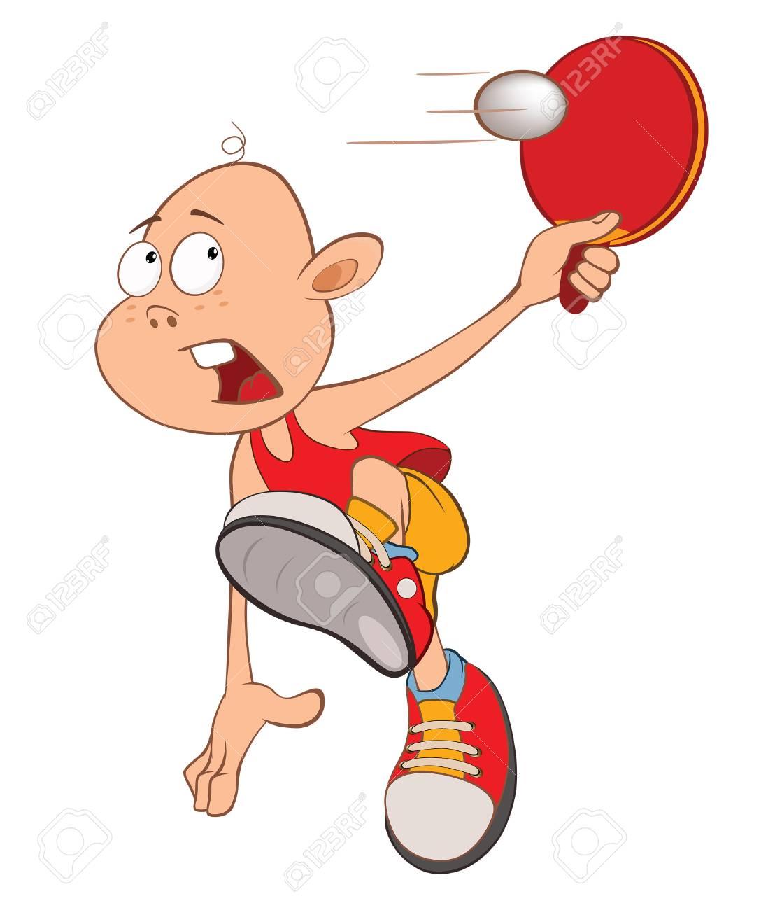 かわいい男の子のイラスト卓球選手のイラスト素材ベクタ Image