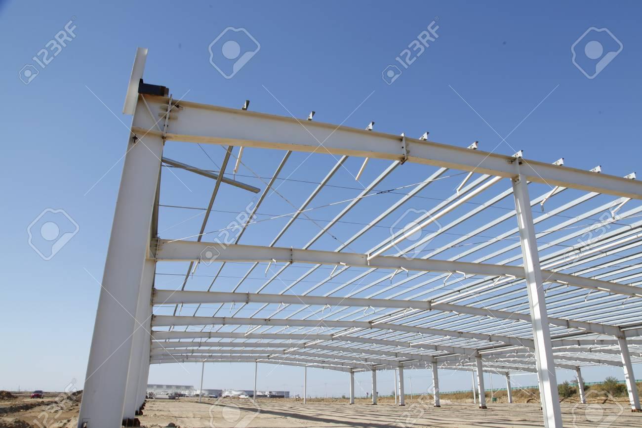 Stahlrahmenkonstruktion, Unter Dem Blauen Himmel, Sehr Schön ...