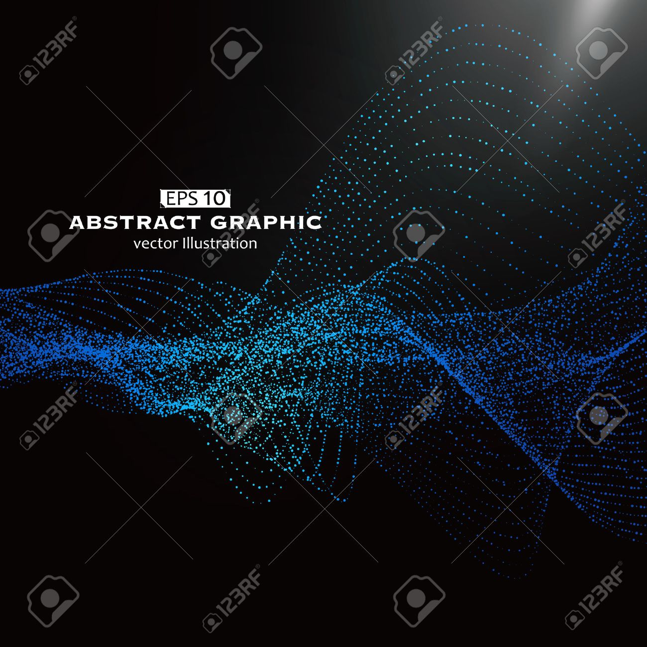 Dot pattern composed of mesh,Technological sense of abstract graphics - 52521744